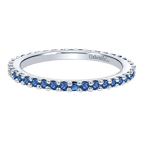 Gabriel - 14k White Gold Stackable Anniversary Band