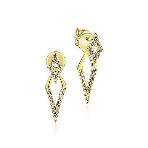 14k Yellow Gold Gemini  Peek A Boo