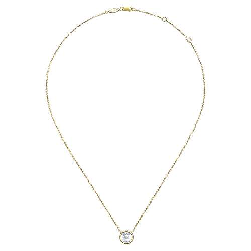 14K Y.Gold Dia Necklace angle 2