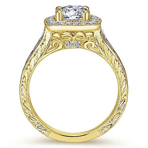 14K Y.Gold Diamond Eng.Ring angle 2