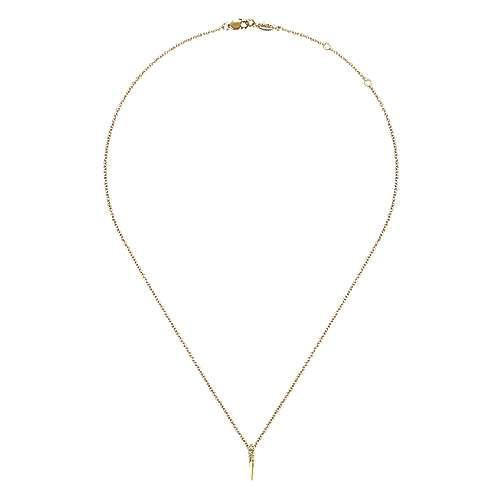 14K Y.Gold Diamond Necklace angle 2