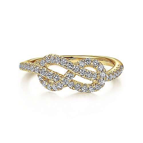 Gabriel - 14k Yellow Gold Eternal Love Fashion Ladies' Ring