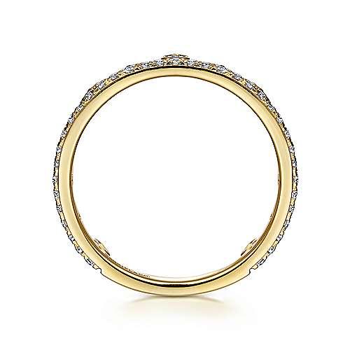 14K Y.Gold Diamond Ring angle 2