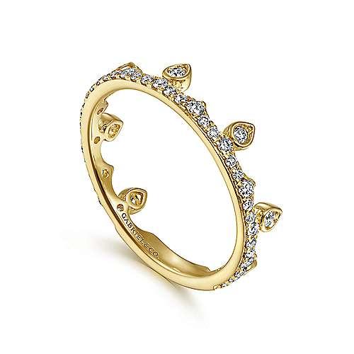 14K Y.Gold Diamond Ring angle 3