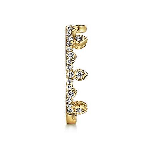 14K Y.Gold Diamond Ring angle 4