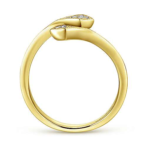 14K Y.Gold Diamond Ring angle 2