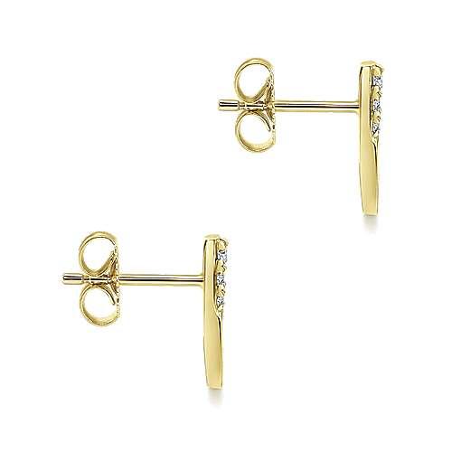 14K Yellow Gold  Fashion Earrings angle 3