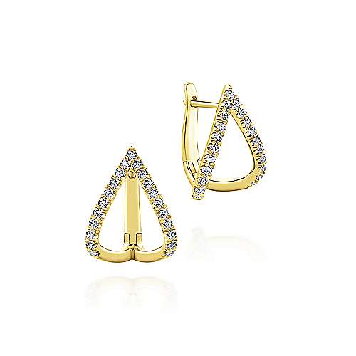 Gabriel - 14K Yellow Gold 15MM Fashion Earrings