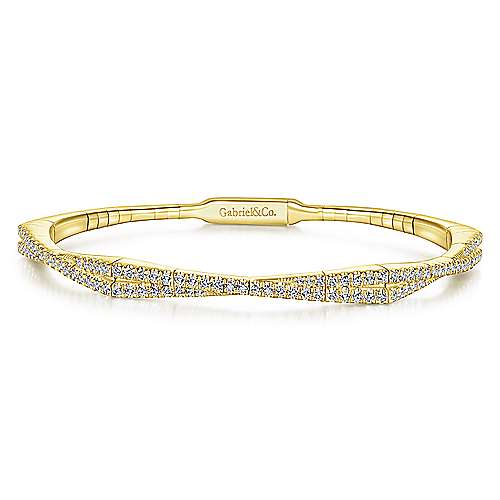 Gabriel - 14K Yellow Gold Diamond Bangle
