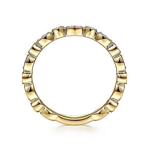 14K Yellow Gold Diamond Ring   angle 2