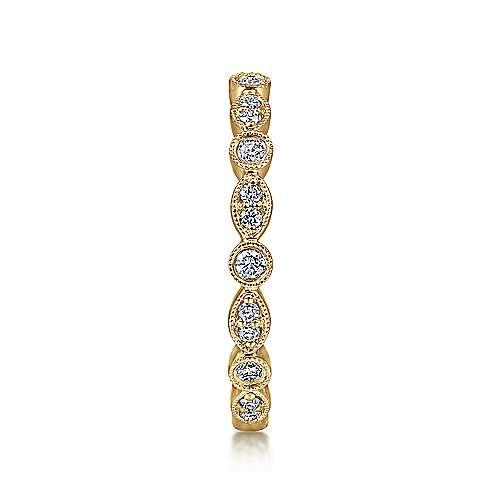 14K Yellow Gold Diamond Ring   angle 4