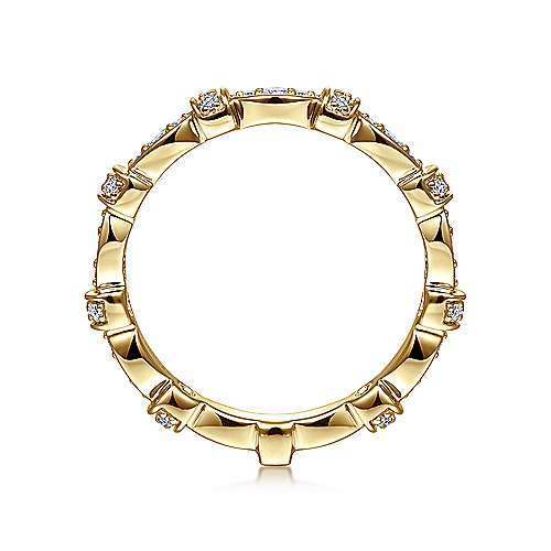 14K Yellow Gold Diamond Ring angle 2