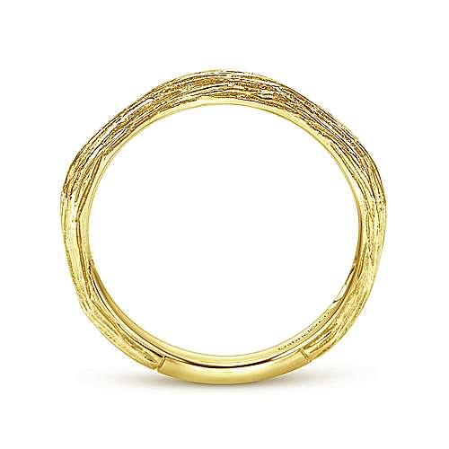 14K Yellow Gold Ring angle 2