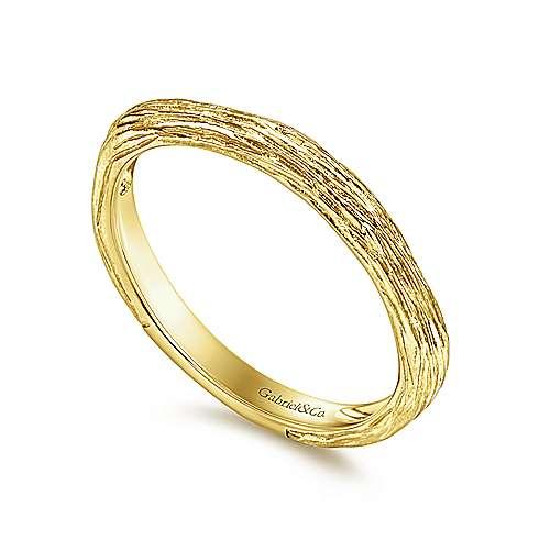 14K Yellow Gold Ring angle 3