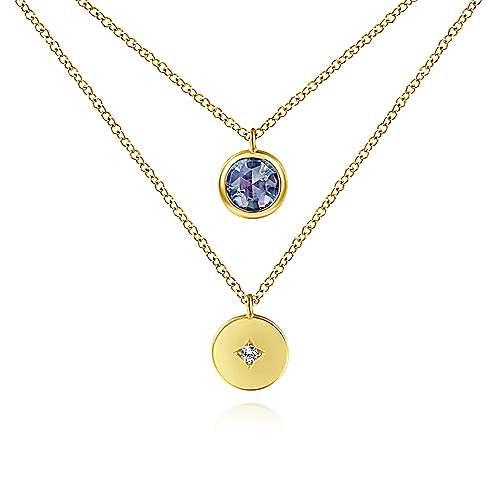 Gabriel - 14K Yellow Gold S.Alexandrite Fashion Necklace