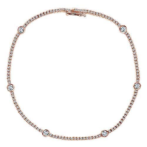 14k Pink Gold Lusso Diamond Tennis