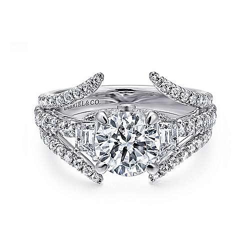 Gabriel - 14k White Gold Nova Engagement Ring