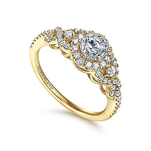 14KY Gold Dia Eng.Ring angle 3