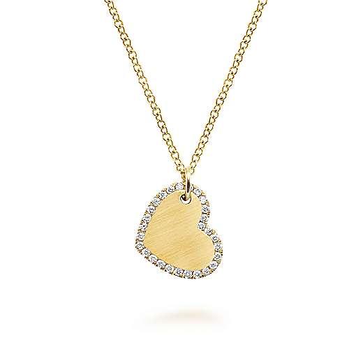 Gabriel - 14k Yellow Gold Eternal Love Heart Necklace