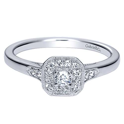 Gabriel - 14k White Gold Promise  Engagement Ring