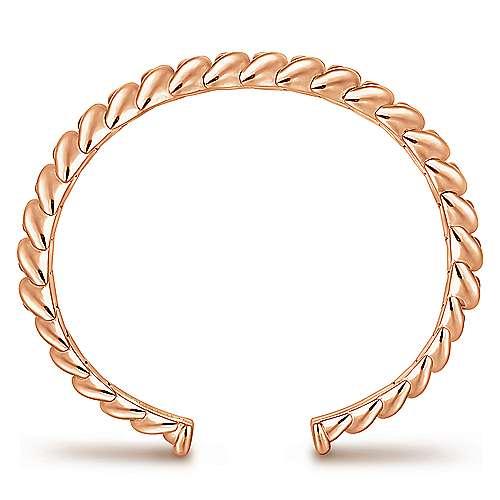 14k Pink Gold Bangle angle 3