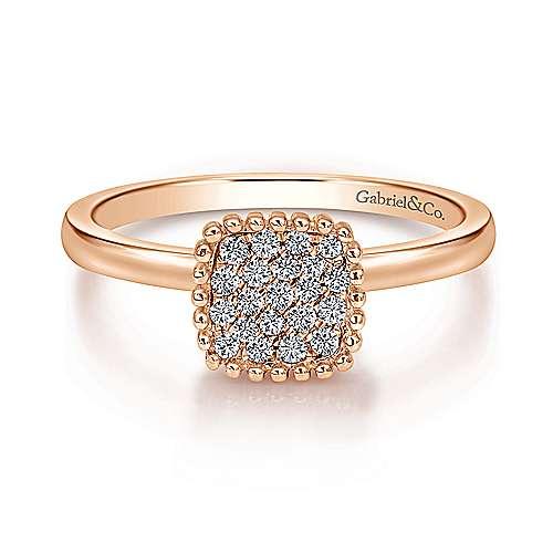 Gabriel - 14k Pink Gold Bombay Fashion Ladies' Ring