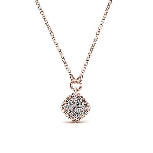 Gabriel - 14k Pink Gold Bombay Fashion Necklace