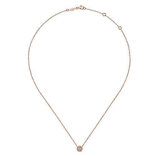 14k Pink Gold Bombay Fashion Necklace angle 2