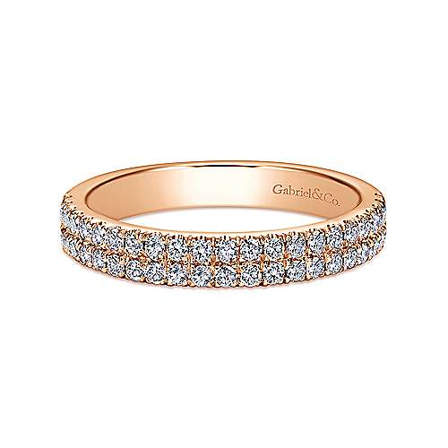 Gabriel - 14k Pink Gold Contemporary Fancy Anniversary Band