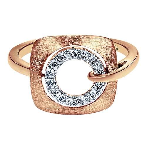 Gabriel - 14k Pink Gold Contemporary Fashion Ladies' Ring