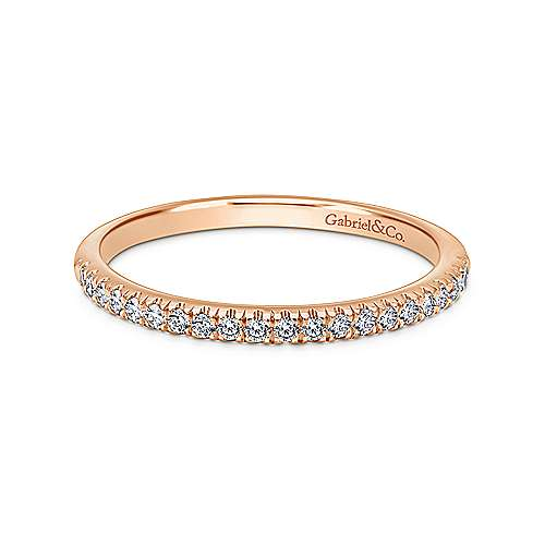 Gabriel - 14k Pink Gold Contemporary Straight Wedding Band