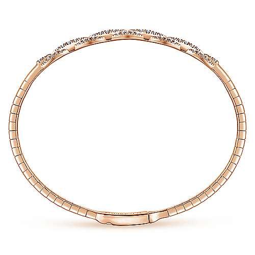 14k Pink Gold Demure Bangle angle 3