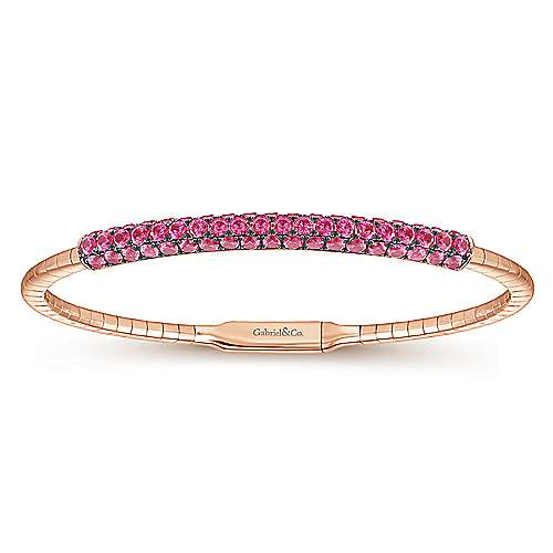 Gabriel - 14k Pink Gold Demure Bangle