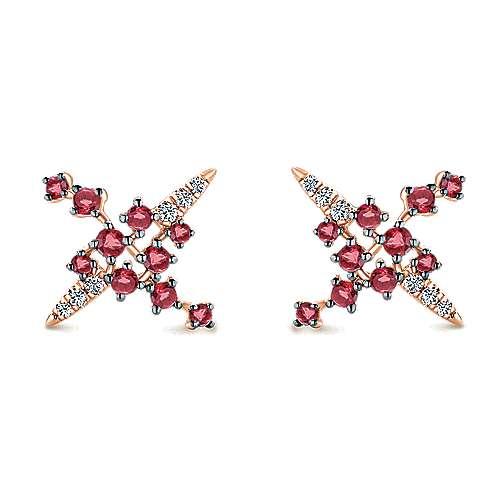 Gabriel - 14k Pink Gold Lusso Color Stud Earrings