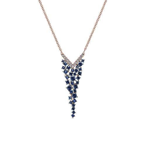 Gabriel - 14k Pink Gold Lusso Color Fashion Necklace