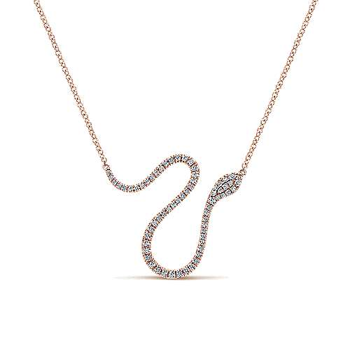 Gabriel - 14k Pink Gold Indulgence Bar Necklace