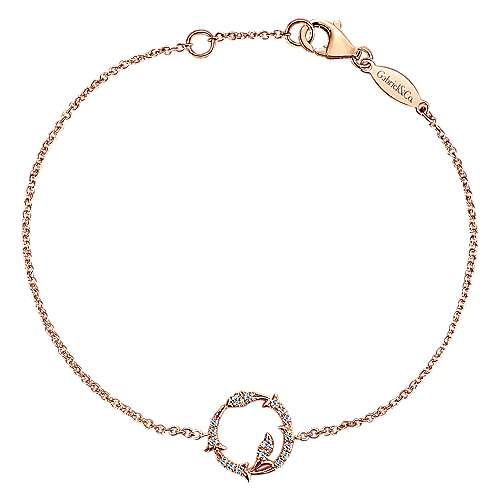 Gabriel - 14k Pink Gold Lusso Diamond Chain Bracelet