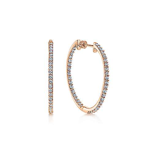 Gabriel - 14k Pink Gold Hoops Classic Hoop Earrings