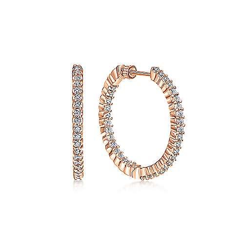 Gabriel - 14k Pink Gold Hoops Classic Hoop Earrings
