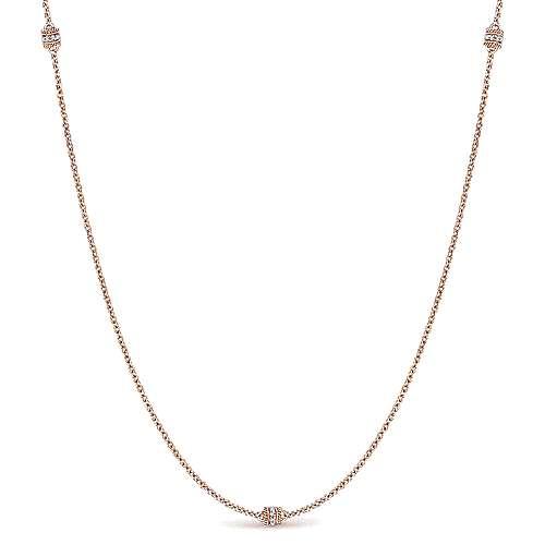 Gabriel - 14k Pink Gold Endless Diamonds Diamond By The Yard Necklace