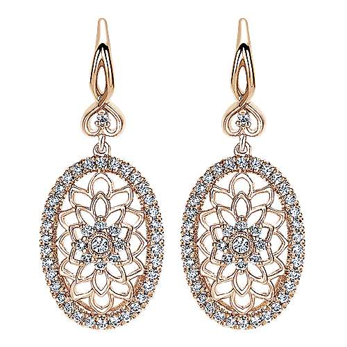 Gabriel - 14k Pink Gold Flirtation Drop Earrings