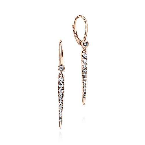 Gabriel - 14k Pink Gold Kaslique Drop Earrings