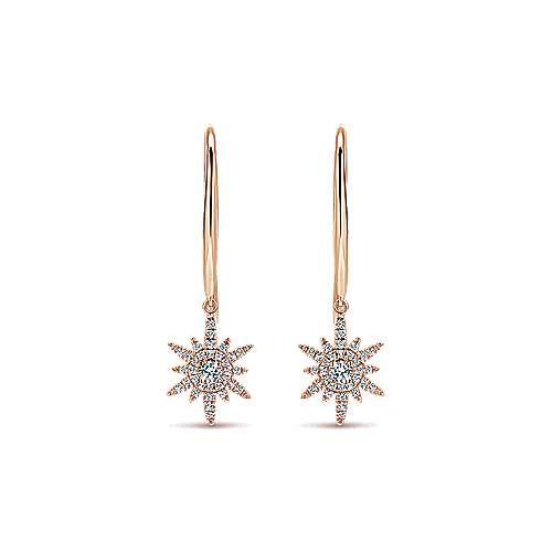 Gabriel - 14k Pink Gold Stellare Drop Earrings
