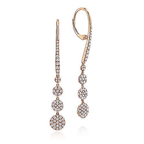 Gabriel - 14k Pink Gold Silk Drop Earrings