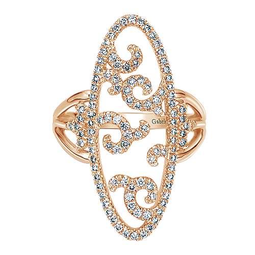 Gabriel - 14k Pink Gold Flirtation Fashion Ladies' Ring