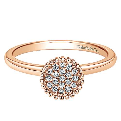 Gabriel - 14k Pink Gold Bombay Fashion Ladies' Ring