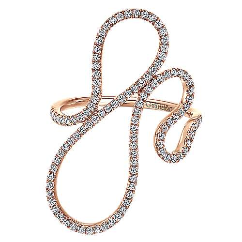 14k Pink Gold Kaslique Fashion