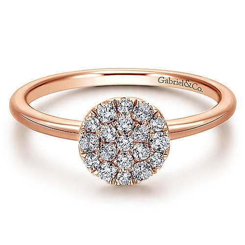 Gabriel - 14k Pink Gold Silk Fashion Ladies' Ring