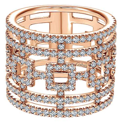 Gabriel - 14k Pink Gold Lusso Diamond Fashion Ladies' Ring