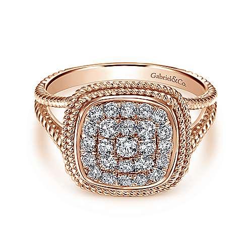 14k Pink Gold Hampton Fashion